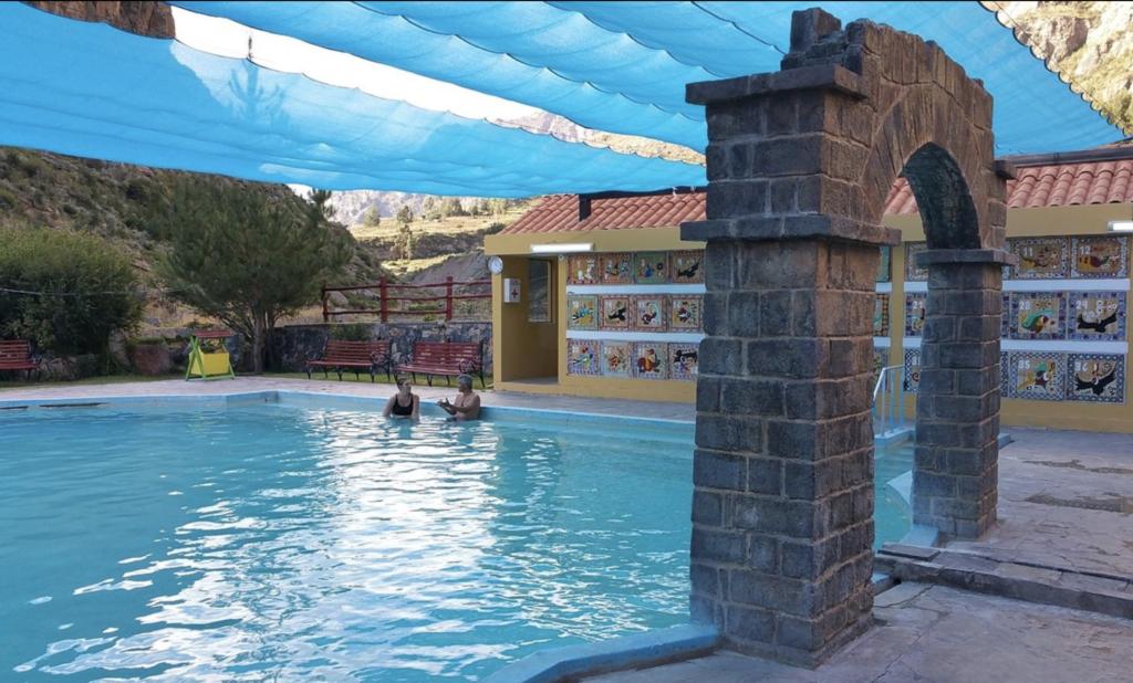 Relaxing at La Calera Hot Springs